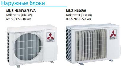 Наружные блоки кондиционера Mitsubishi Electric MSZ-HJ