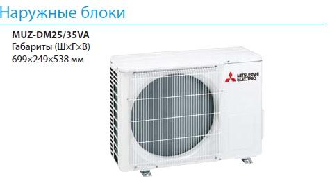 Наружный блок кондиционера Mitsubishi Electric MSZ-DM VA
