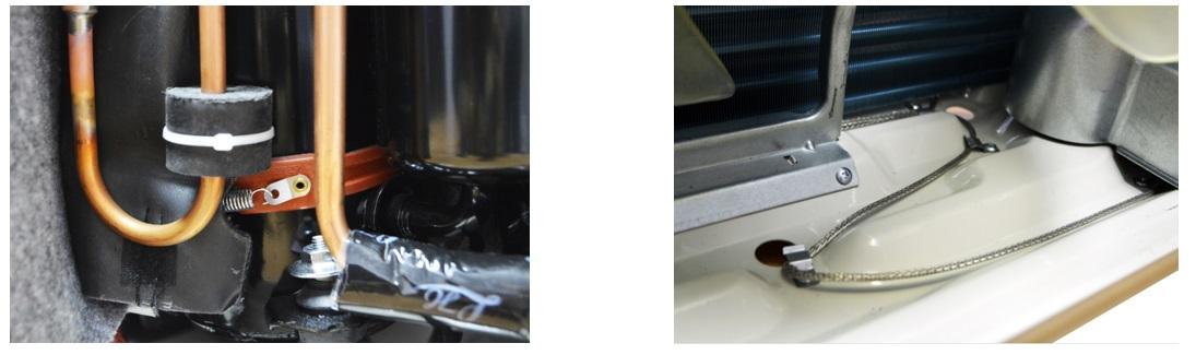 Наружный блок кондиционера имеет подогрев поддона и подогрев картера компрессора.