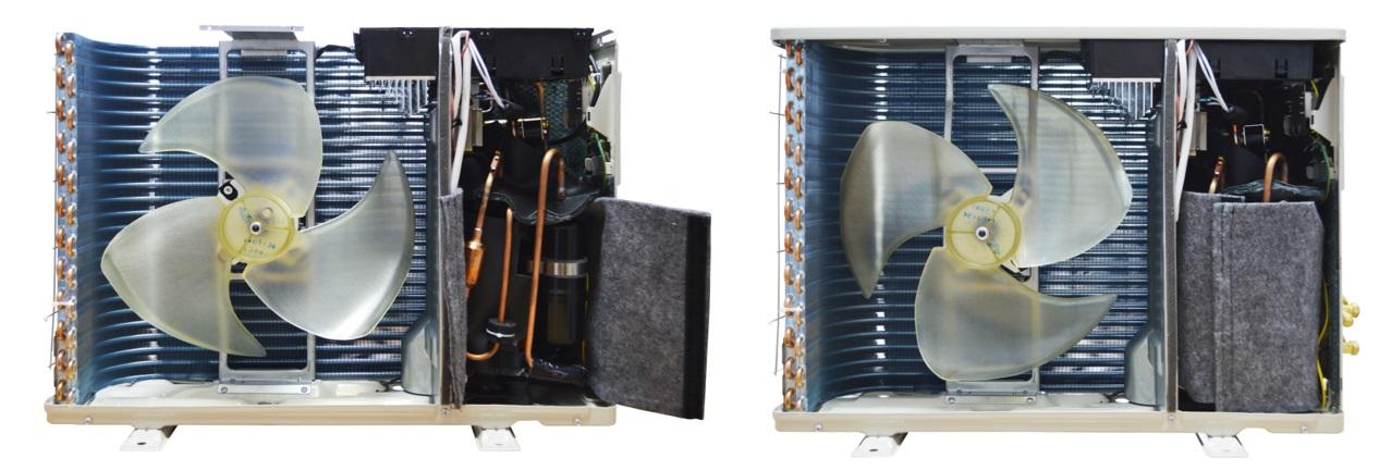 Компрессор помещён в двойной защищённый термоизоляционный кожух